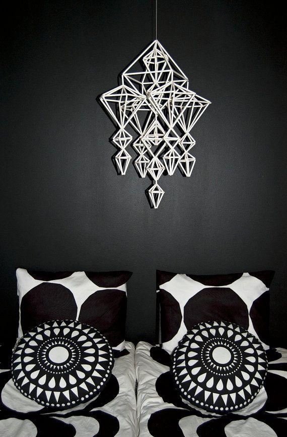 white+LOUNA+himmeli+/+mobile+by+HannaKaisaKdesign+on+Etsy