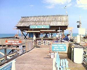 Cocoa Beach Pier... this is the Tiki Bar at the very end of it. Behind where this was taken, there's 2 restaurants and a slew of shops. This is a LONG pier :)