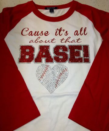 Women's Baseball Bling T-shirt. Rhinestone shirt. Mom all about that base baseball t shirt