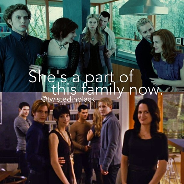 Meeting the Cullens for the first time, and seeing them for the first time after becoming vampire