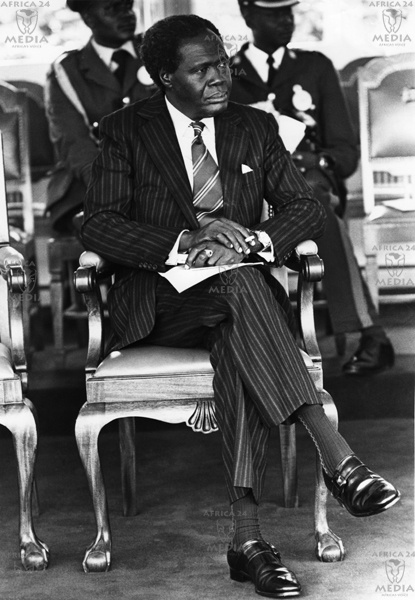 AFRICA, KENYA - Dr. Milton Obote, President of Uganda during a meeting which was held for African Heads of State, in State House Nairobi.