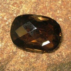 Batu Permata Cushion Facet Smoky Quartz 35.86 carat