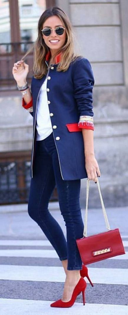 #streetstyle #spring2016 #inspiration  French Flag Colors Outfit                                                                             Source