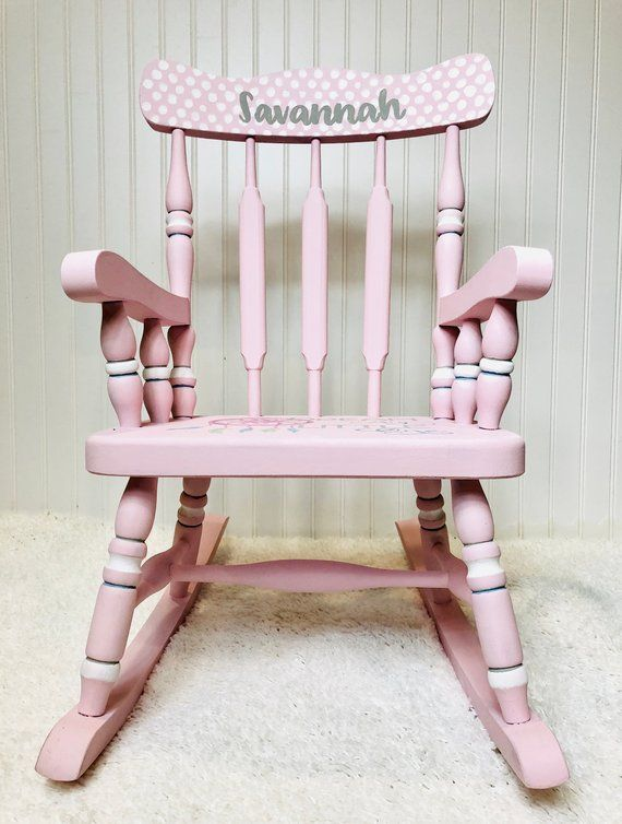 Childrens Rocking Chair Personalized Rocker Bohemian Nursery