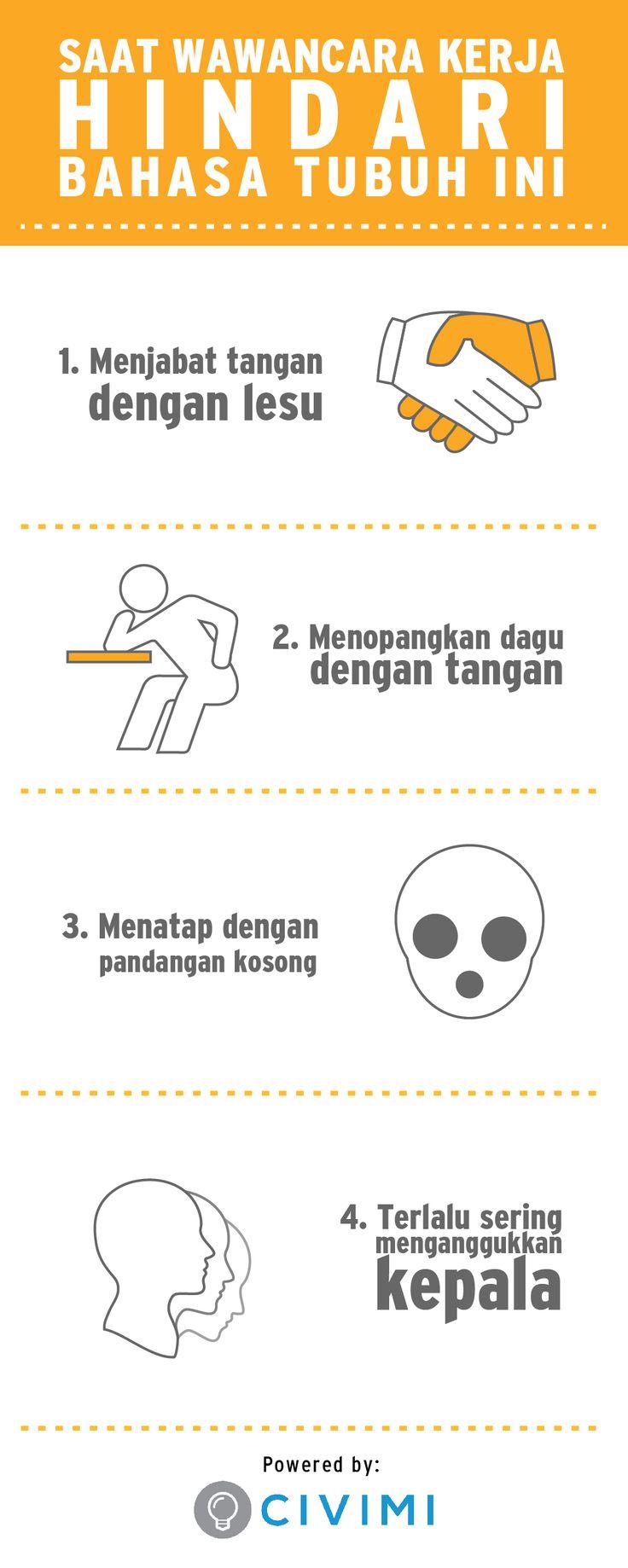 Saat Wawancara Kerja Hindari Bahasa Tubuh Ini (Infographic)