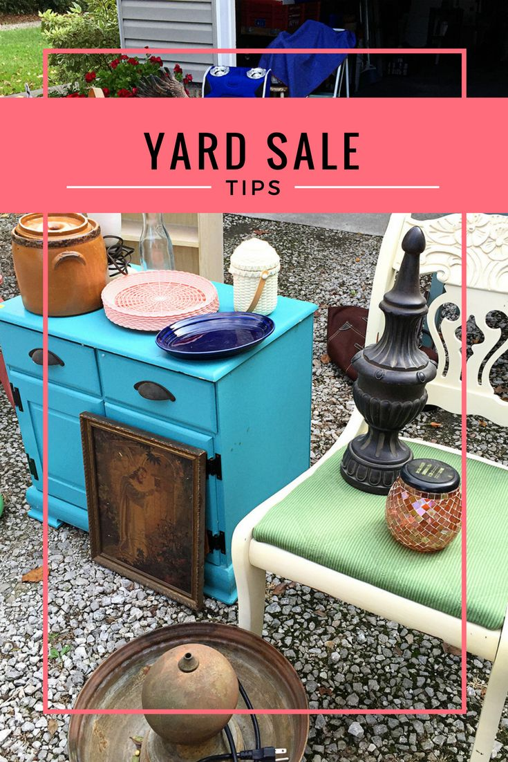 BEST yard sale tips to make the most out of your sale this year. Yard sales and garage sales are a GREAT way to make extra cash while decluttering your home.