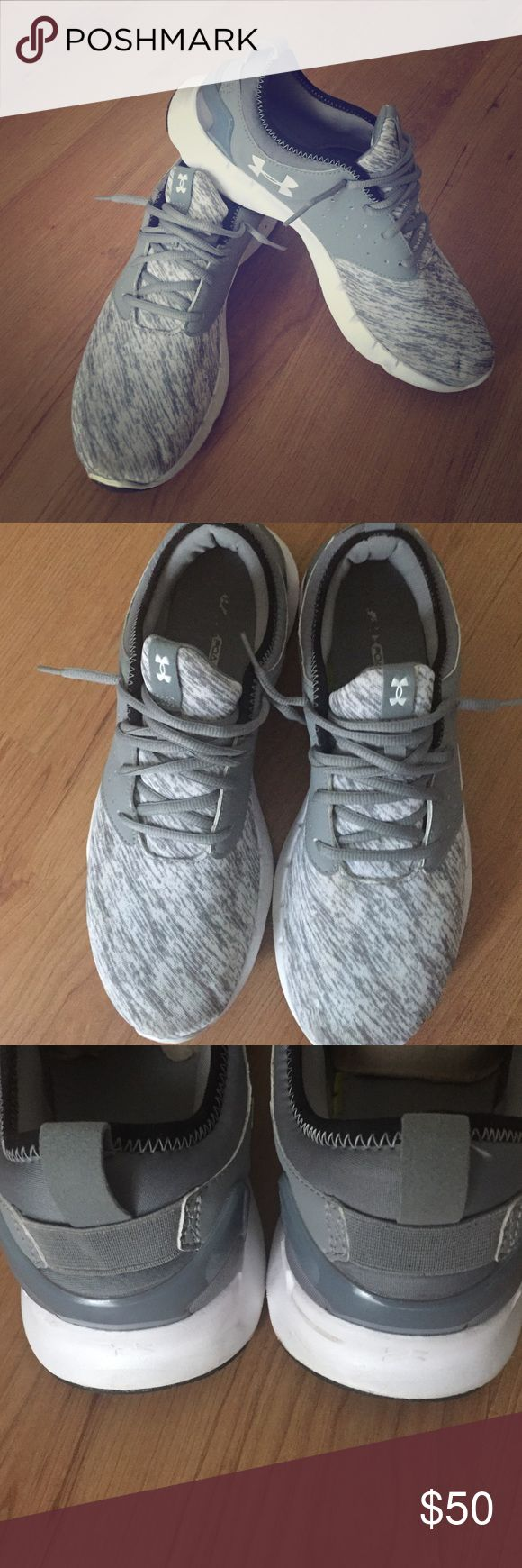 Men's Under Armour Tennis Shoes Grey and white UA shoes. Worn maybe 5 times! Under Armour Shoes Athletic Shoes