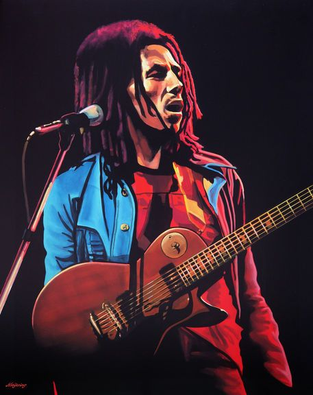 'Bob Marley 2 painting' by Paul Meijering on artflakes.com as poster or art print $20.79