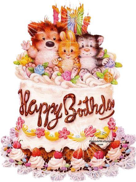 Happy Birthday Wall Photos Happy Birthday Cake Animated Scrap