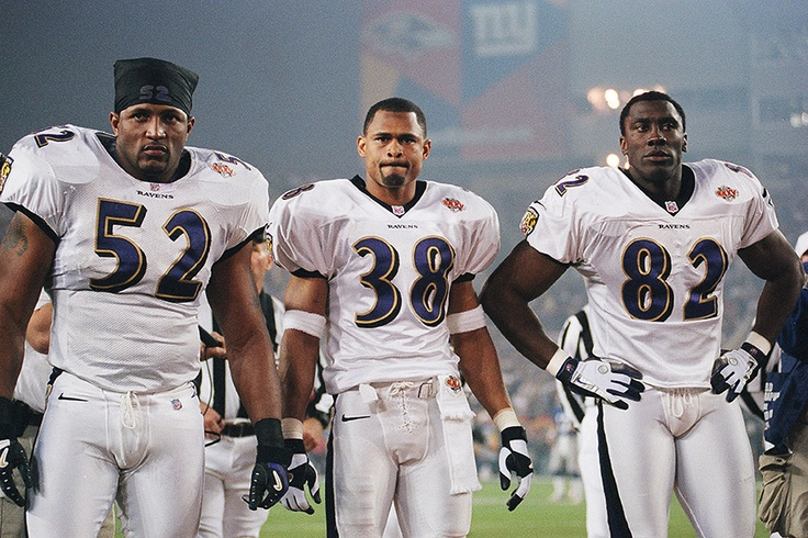 Super Bowl XXXV: Ray Lewis, James Trapp and Shannon Sharpe