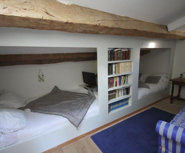 76 best combles images on Pinterest | Bedroom ideas, Attic bedrooms ...