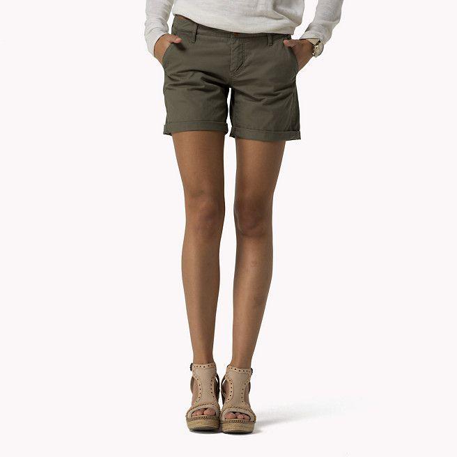 Hilfiger Denim Cotton Twill Shorts - dusty olive-pt (Green) - Hilfiger Denim Shorts - main image