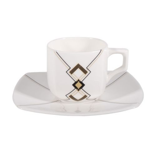 Art Deco Cup & Saucer from Edwards and Lockett . Buy from the online gift shop at English Heritage.
