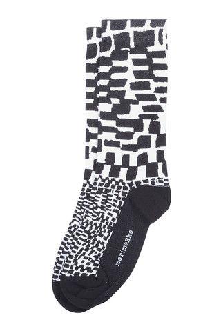 Mette Socks Black/White