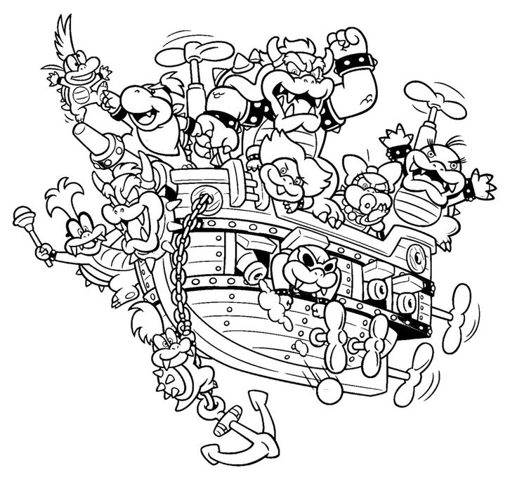 Bowser Coloring Pages Super mario coloring pages, Mario