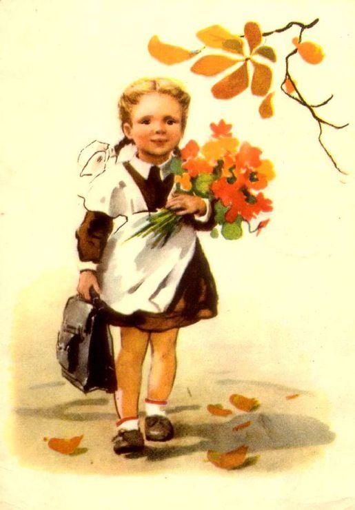 Gallery.ru / Фото #1 - Здравствуй, школа! Старые советские открытки. - Anneta2012