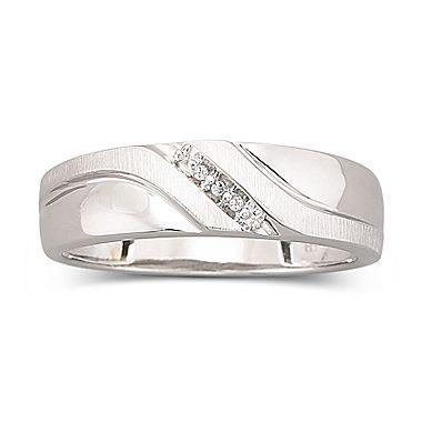 white gold ring mens diamond accent 10k jcpenney - Jcpenney Mens Wedding Rings