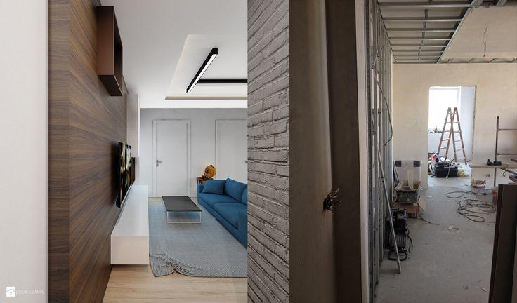 Projekt mieszkania 55m2 w Dąbrowie Górniczej - zdjęcie od Ale design Grzegorz Grzywacz - Salon - Styl Nowoczesny - Ale design Grzegorz Grzywacz
