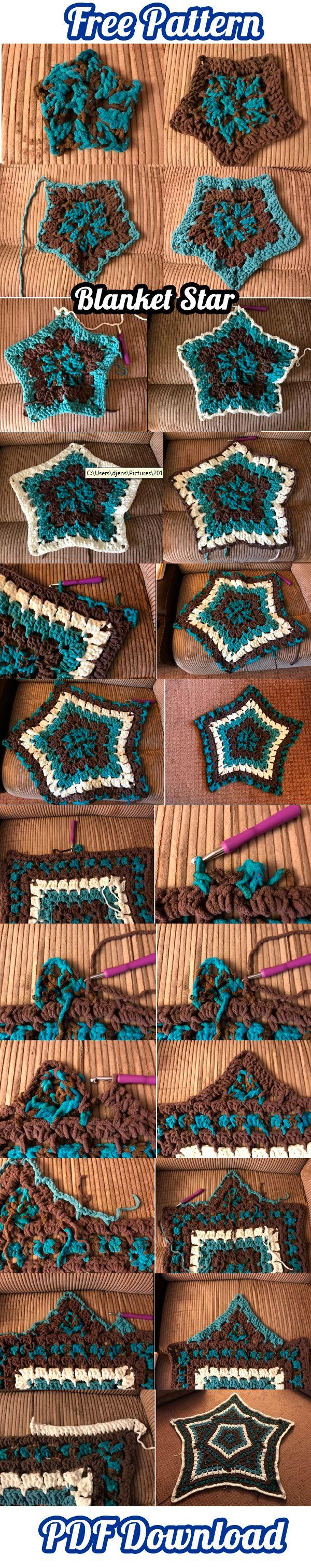 Star Kaleidoscope Afghan | Blanket Pattern PDF Download | Ravelry, Free Patterns, Crochet Patterns, Blanket Patterns, Blanket Afghan, Blanket Star, Crochet Afghan, DIY, Crafts, Handmade, How To, ravelry.com