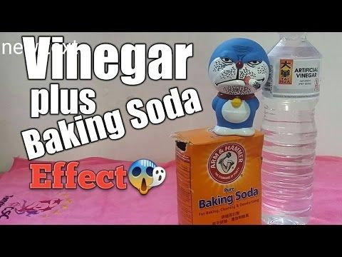 Singapore Vinegar plus Baking Soda Effect unclog sink - YouTube