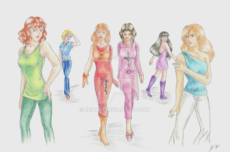 Female characters by Reika77.deviantart.com on @DeviantArt #group #drawing #anime #manga #girl