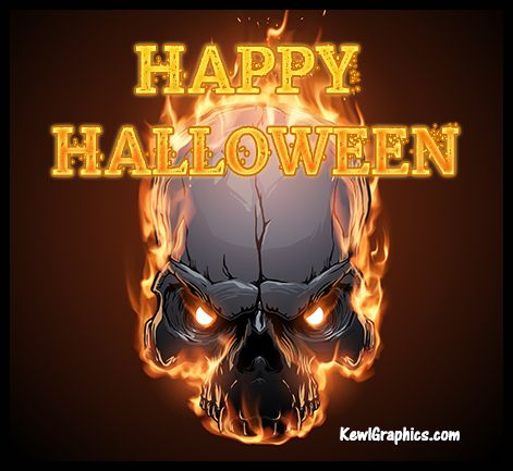 happy halloween fire skull graphic plus many other high quality graphics for your facebook profile at - Halloween Skulls Pictures