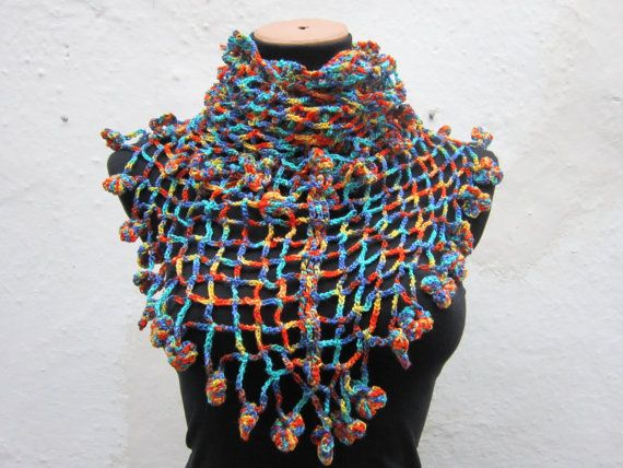 CowlShawlScarfShawl Triangle Winter  Accessories Yellow by nurlu, $46.00
