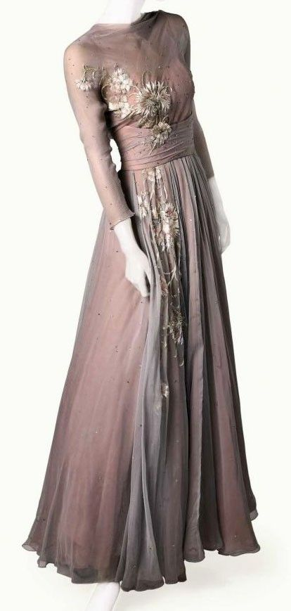 Costume Dress - 1956 - Made for Grace Kelly - Dress by Helen Rose - 'High Society' - @~ Watsonette