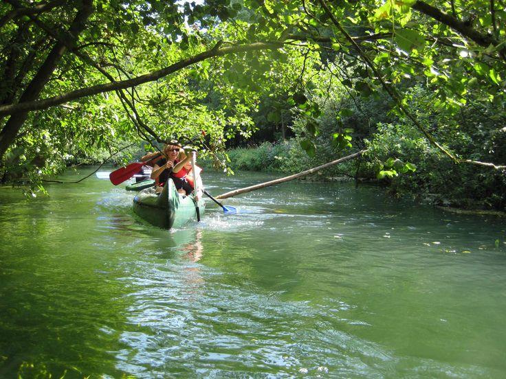 Idyllische #Landschaften und #Wälder mal aus einer anderen Perspektive erkunden ... beim #Kanu und #Kajak fahren auf dem #Fluss