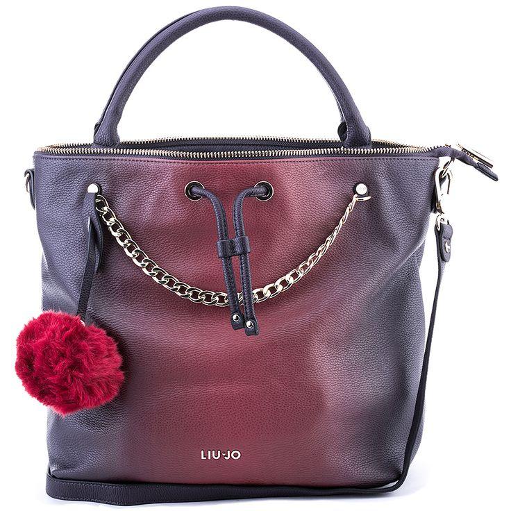 LIU JO Secchiello M Poppa - Bordowa Ekoskórzana Torebka Damska #mivo #mivoshoes #shoes #buty #women #accessories #bag #ombre #effect #ombreeffect #colors #liujo #new #collection #newcollection #fall #winter #2015 #2016