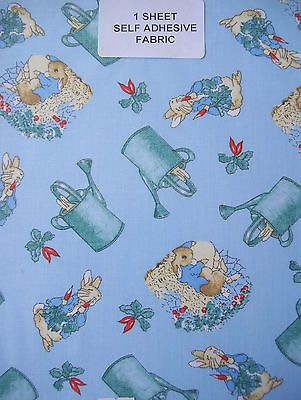 Assorted A4 Self Adhesive Fabric Sheet Peter Rabbit Beatrice Potter