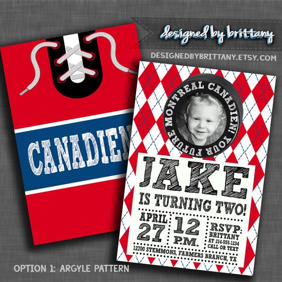 20 Best Hockey Invitations Images On Pinterest