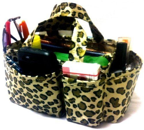 "3-6 Days Delivery- Lexie Tan Leopard Print Handbag Travel Cosmetic Make-Up Bag Purse Tote Organizer Insert Dimensions: L 9""x H 4""x W 4"" by BagManager. Save 48 Off!. $12.88. Never lose your keys with built in key hook.. Use for:  Handbags, Tote Bags, Travel Bags, Car Consoles, and More!. Six exterior compartments hold/protect all essentials; Organizer may be reversed to fit small bags, as shown in photo.. Turns ugly mess into organized success.. Changing bags is fast and easy!. Thi..."