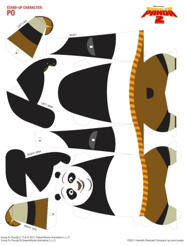 Po Kung Fu Panda 2 Papercraft Pinterest Toys Kung