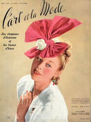 * Chapeau Rose Valois vers 1939 Photo Georges Saad