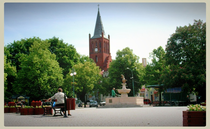 Barlinek, Poland. The Square. Very lovely little town situated by Lake Barlinek