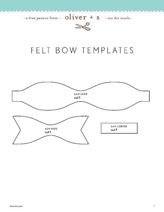 Felt Bow pattern