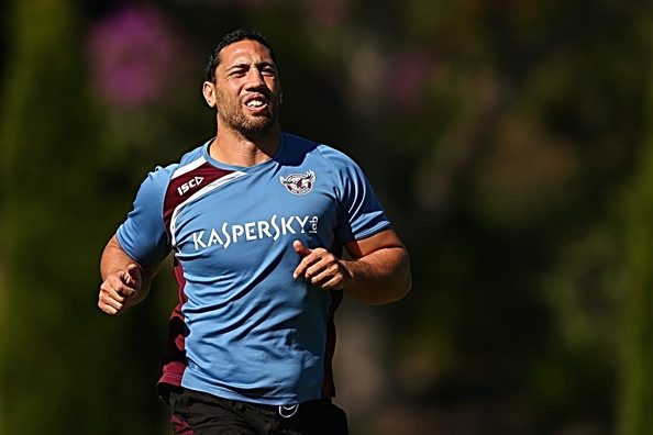 Brent Kite of the Sea Eagles runs during a Manly Sea Eagles NRL training session at the Sydney Academy of Sport on May 17, 2013 in Sydney, Australia.