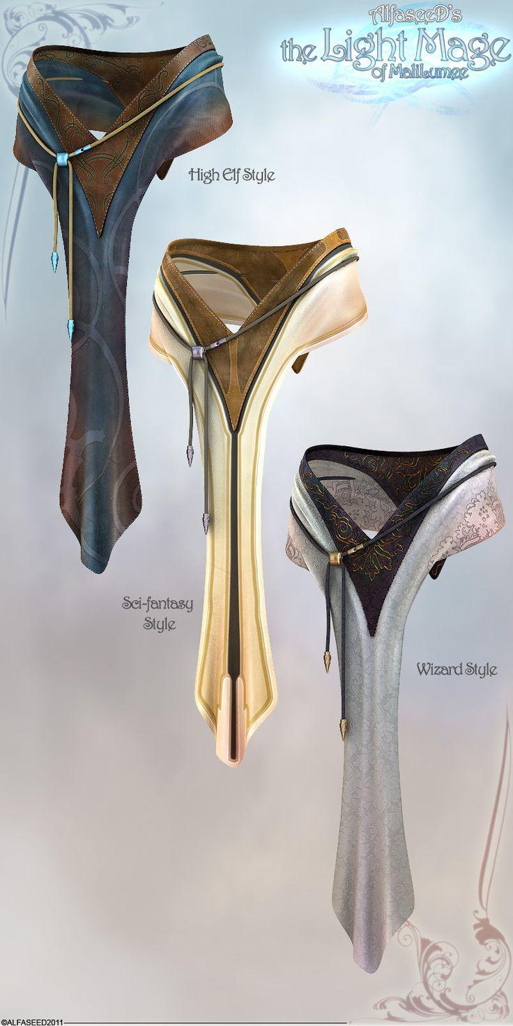the Light Mage - Loin Detail by Aeon--Soul.deviantart.com on @deviantART