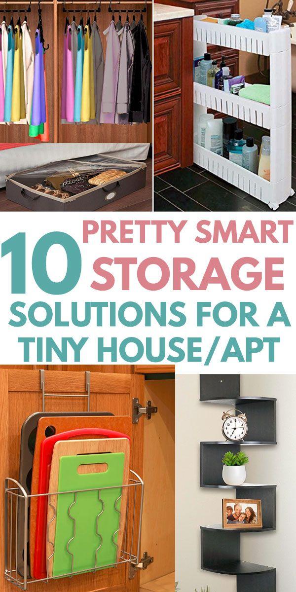 10 Ready Made Storage Ideas For Small Spaces Small Apartment Organization Apartment Hacks Organizing Kitchen Organization Diy