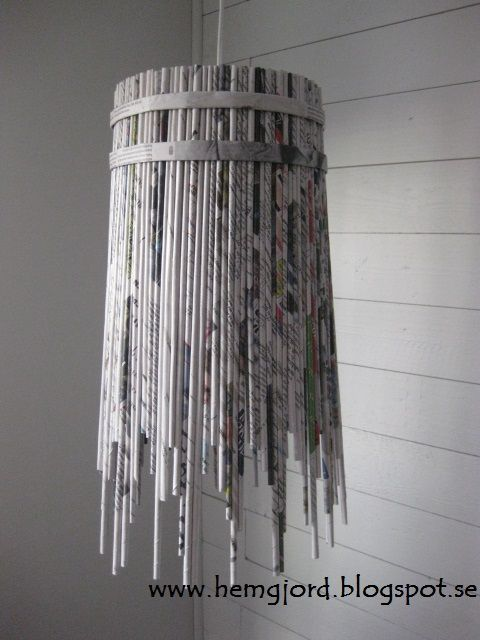Newspaper pendant lamp #Chandelier, #Light, #Magazine, #PaperBooks, #Pendant
