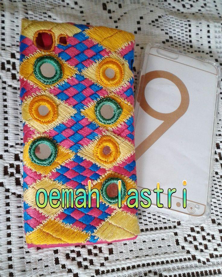 Sarung Hp sulam benang #handmade #handembroidery #craft
