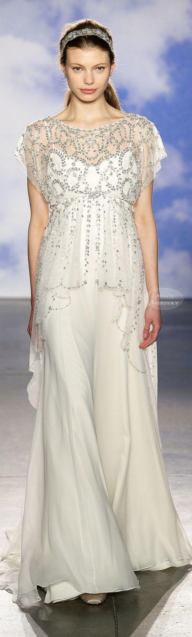 Jenny Packham Bridal Spring 2015. For a gorgeous Regency themed wedding, I'd think.