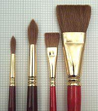 handprint : watercolor brushes