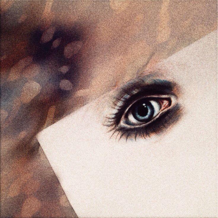 Глаз. Рисунок. Обработка. Цветные карандаши + photoshop