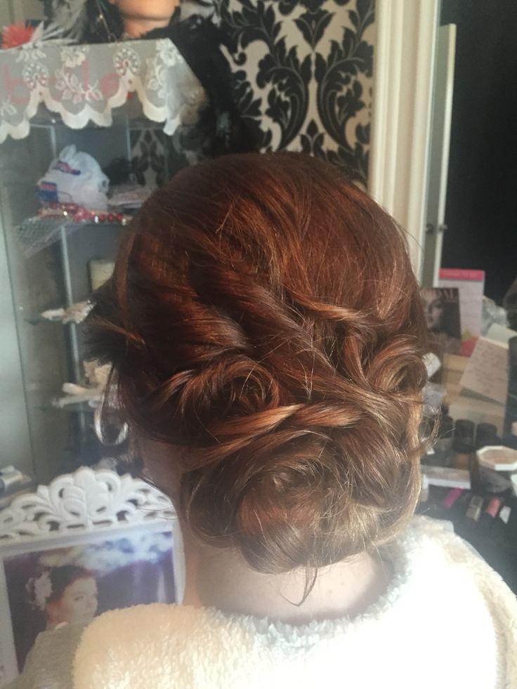 Bridal hair textured bun