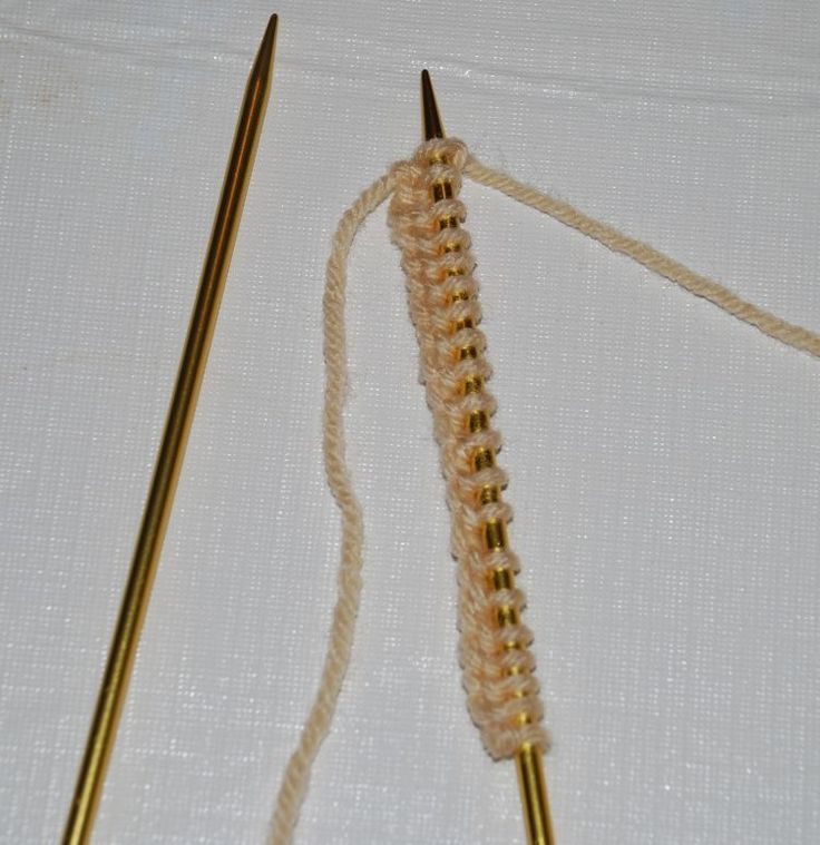 Knitting the First Row of Your Project