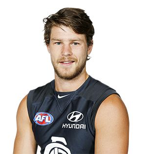One of Carlton's most versatile players, Bryce Gibbs spent more time in the midfield last year and led the Blues inside 50s. Despite missing three games through injury, he still finished fifth in the John Nicholls Medal count. In 2013, Gibbs became the second youngest player in Carlton's history...