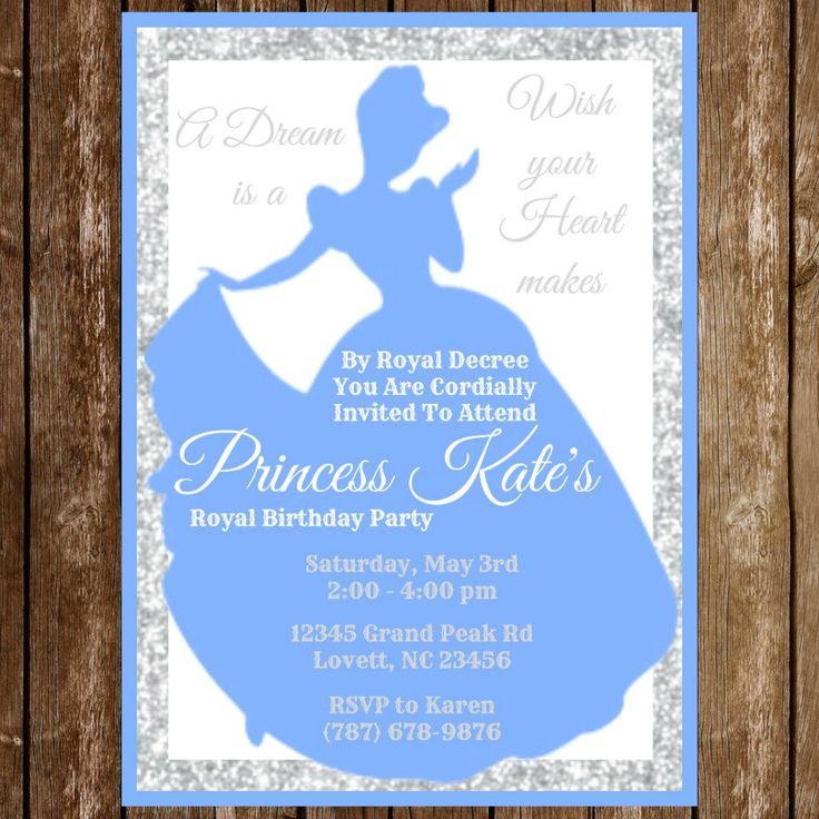best 25+ princess birthday invitations ideas on pinterest | disney, Birthday invitations