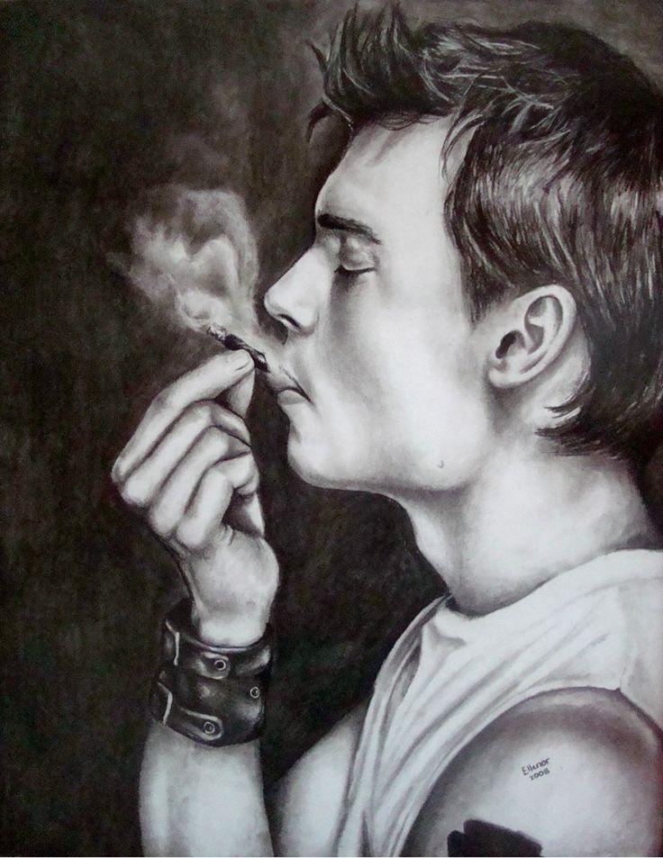 Johnny Depp- Charcoal on Paper Artist: Ellenor Hastie